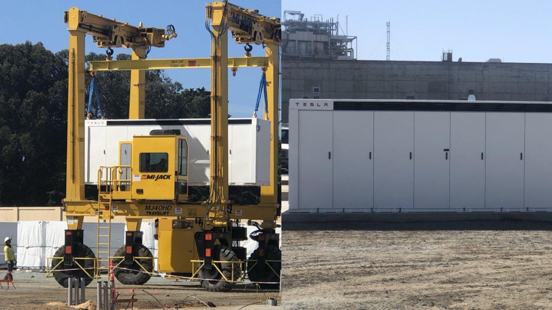 Успешно установлены первые мегапакеты Tesla для гигантской батареи Moss Landing