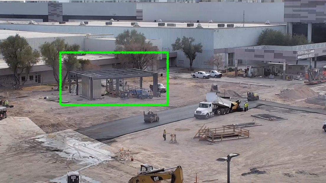 Станция Loop LVCC компании Boring Company появляется, поскольку работа на асфальте продолжается