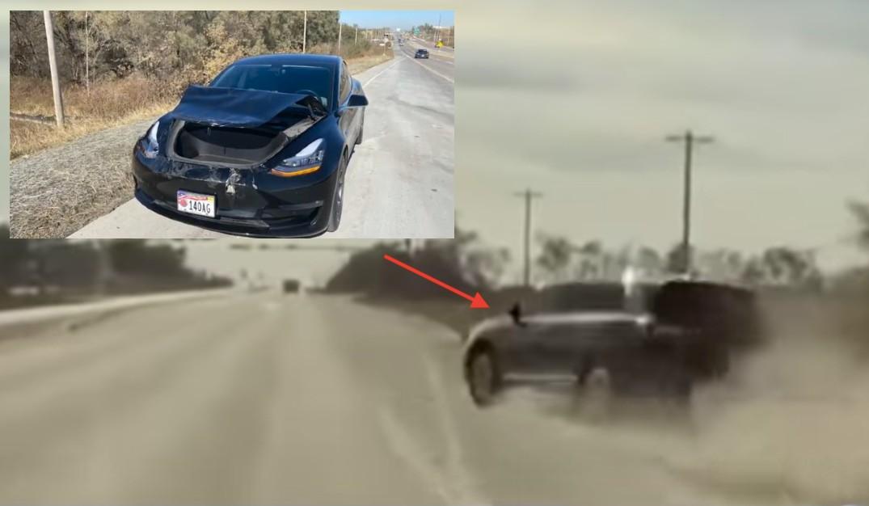 Видеорегистратор Tesla заставил водителя внедорожника потерять права из-за инцидента