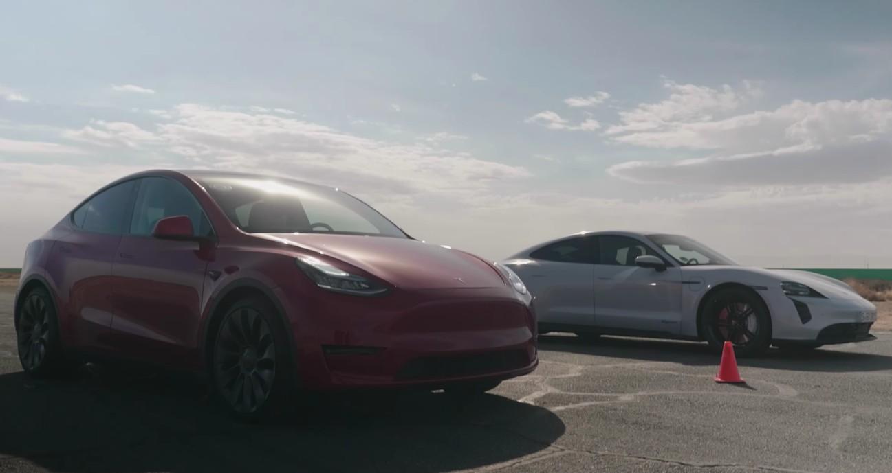 Самый медленный автомобиль Tesla превзошел Porsche Taycan в гонках по сопротивлению