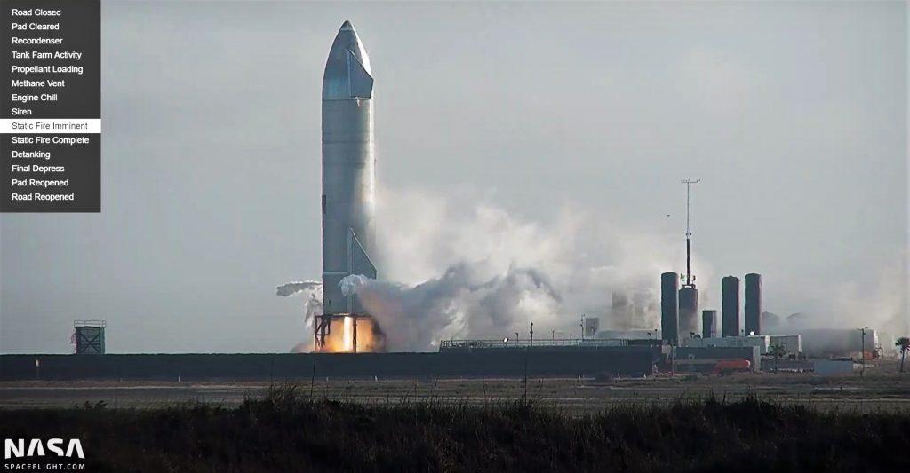Статический огонь SpaceX Starship - хороший повод для запуска в конце этой недели