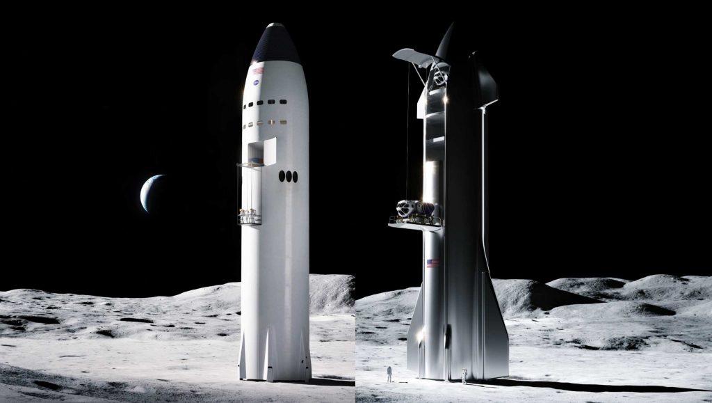 SpaceX быстро строит и тестирует лифт Starship Moon для НАСА