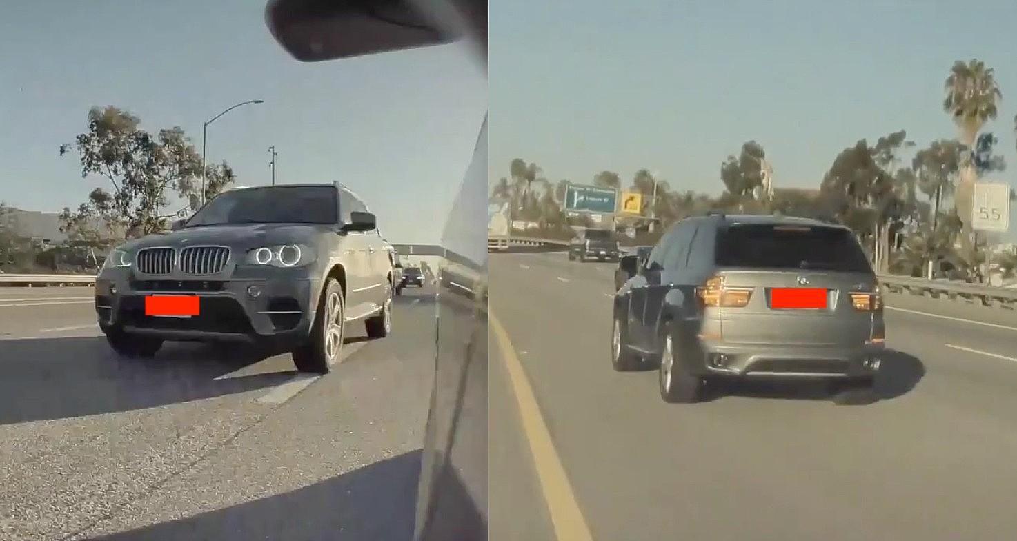 Автопилот Tesla препятствует явной попытке маневра BMW SUV на Model 3