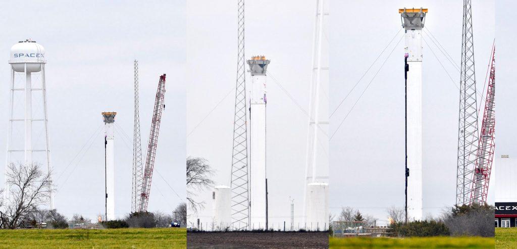 Ракета-носитель SpaceX Falcon Heavy замечена в офисе испытаний ракет в Техасе