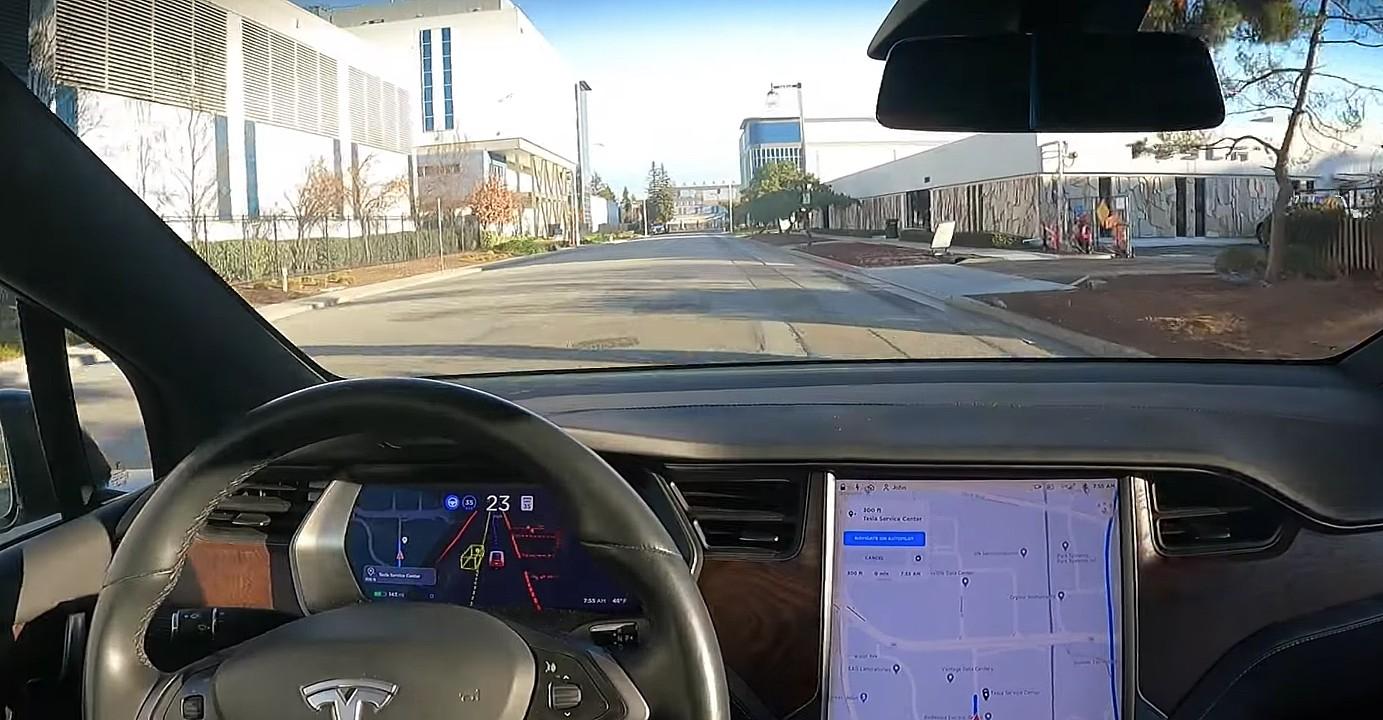 Tesla Model X с бета-версией FSD едет в сервисный центр без каких-либо вмешательств