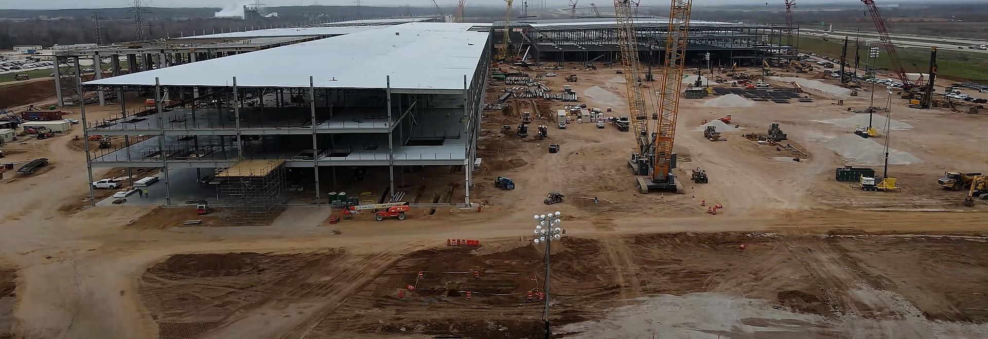 Производство Tesla Giga Texas приближается с появлением оборудования для покрасочных цехов