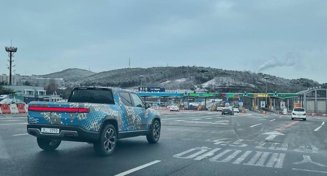 Rivian R1T замечен в Южной Корее на фоне слухов о батареях LG Chem