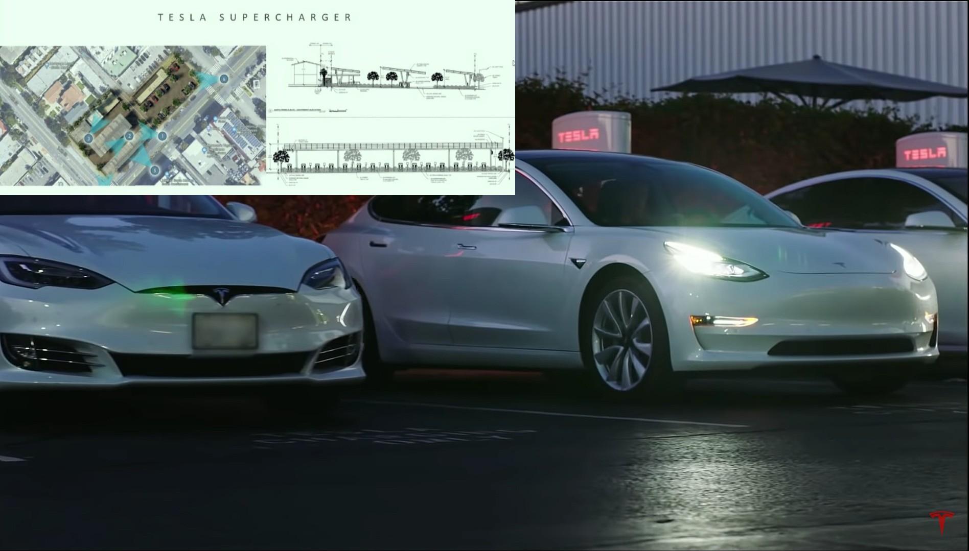 Станция Tesla Supercharger V3 с 62 киосками в Санта-Монике получает одобрение, несмотря на противодействие