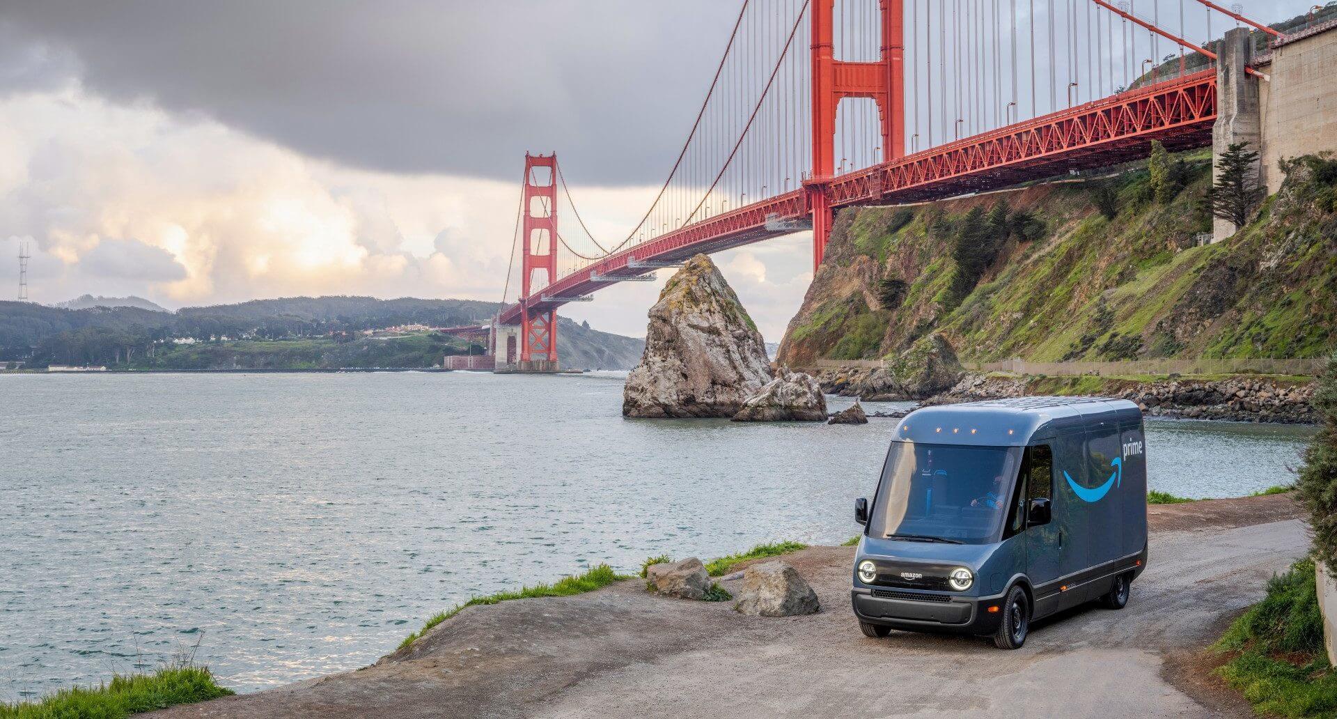 Электрический фургон Amazon Delivery Van от Rivian начинает поставки в Сан-Франциско, поскольку испытания продолжаются