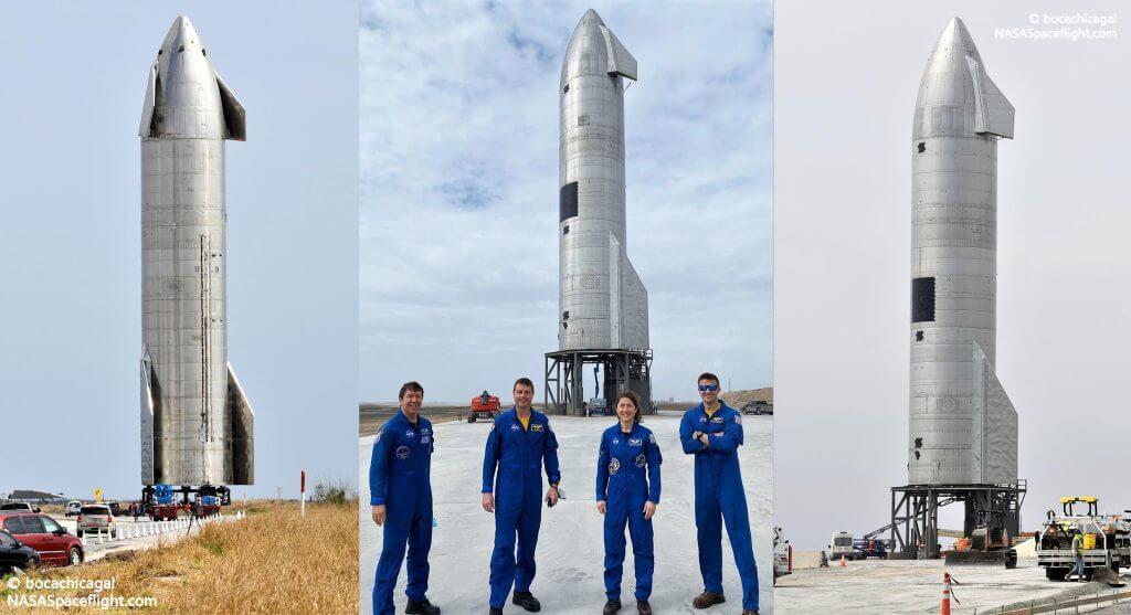 Астронавты НАСА посетили космический корабль SpaceX перед статическим огнем и запуском