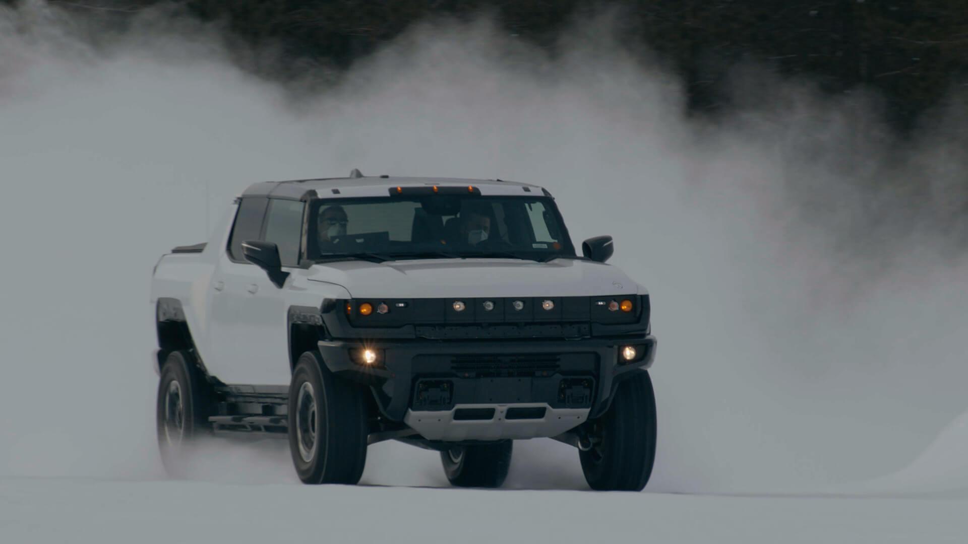 GMC Hummer EV проходит строгие зимние испытания, внедорожник назначается