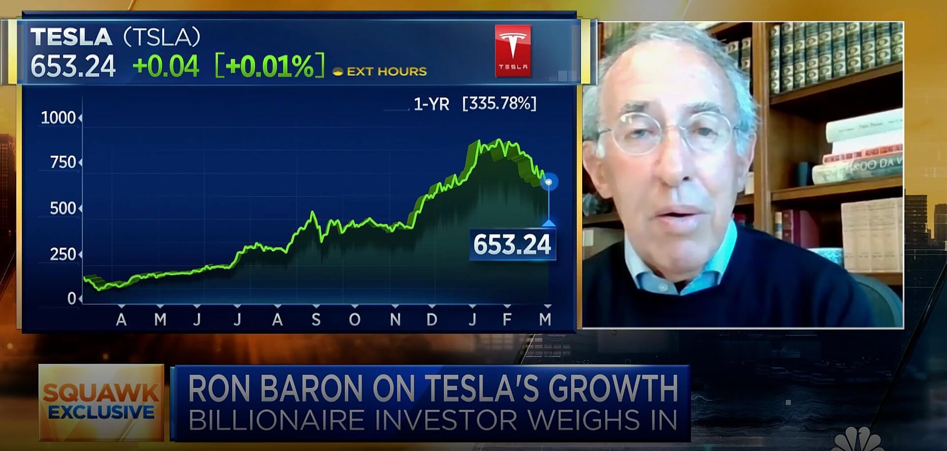 Tesla Bull Baron Capital продала 1,8 млн акций, личные акции Рона Барона остались нетронутыми