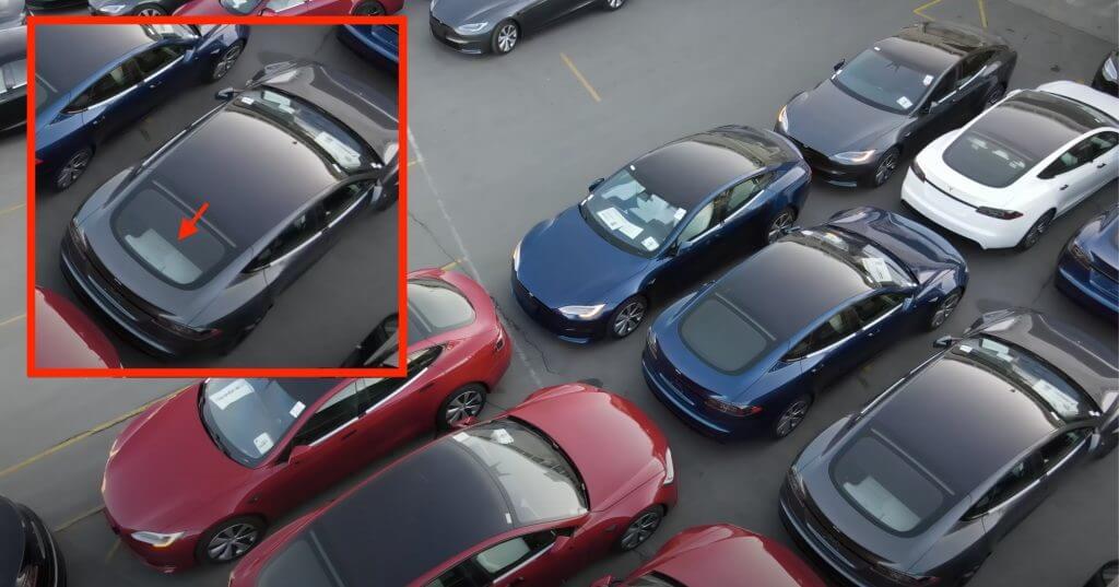Tesla Model S Plaid с откидными сиденьями, похоже, замечена на недавней эстакаде