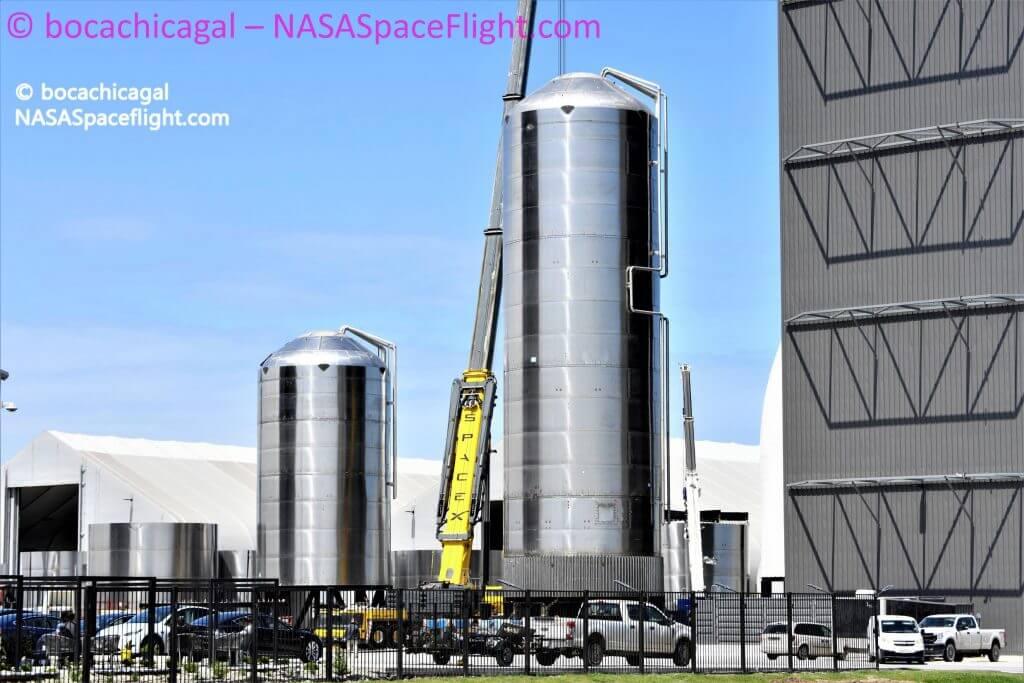 SpaceX строит резервуары для стартовых площадок из деталей Starship, и это большое дело
