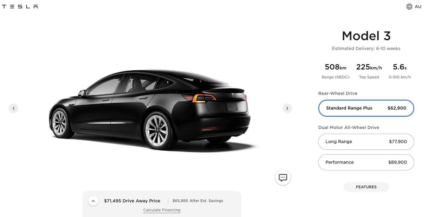 Tesla снижает цену на Model 3 в Австралии благодаря экспорту Giga Shanghai