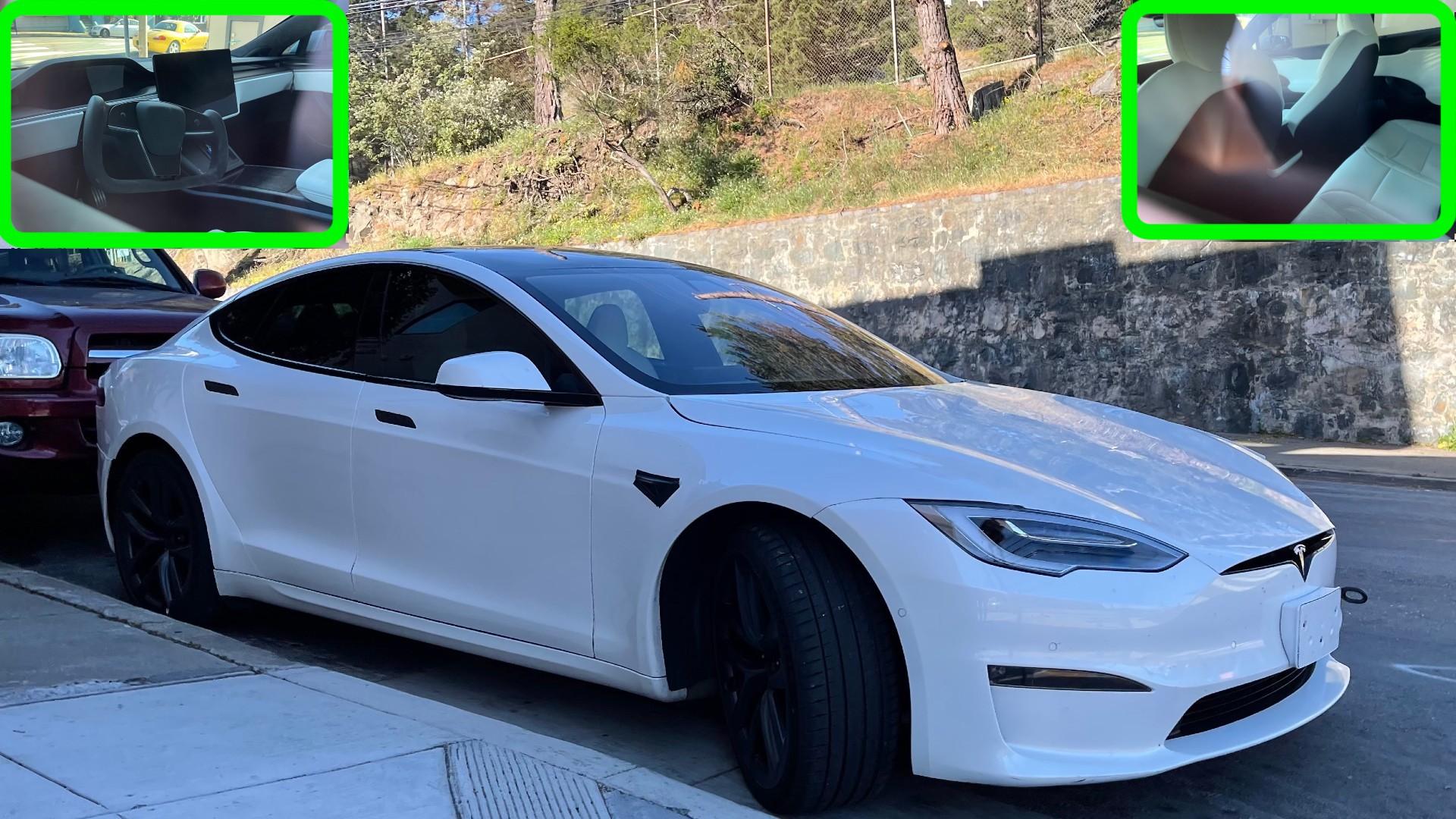 На фотографиях Tesla Model S Plaid лучше всего виден новый интерьер на сегодняшний день