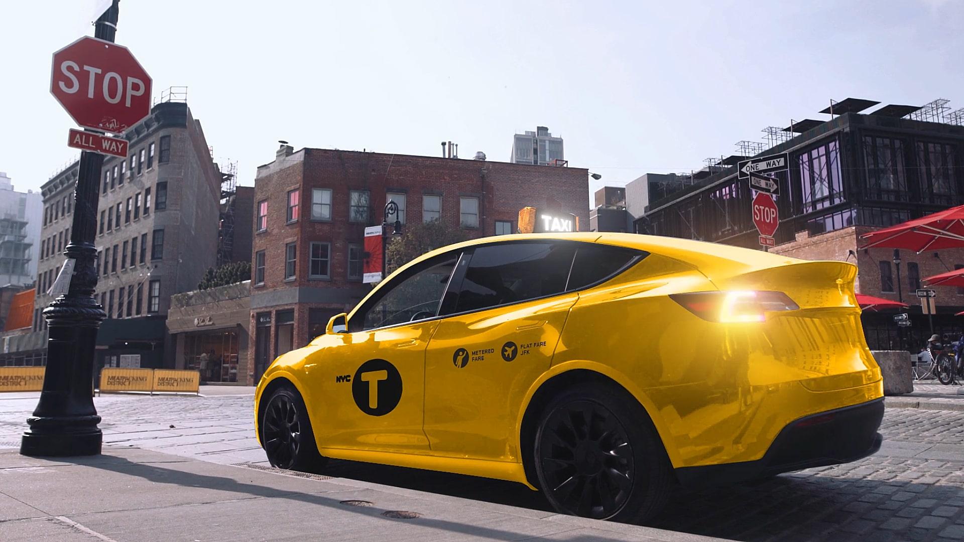 Таксопарк Tesla Model Y появится в индустрии желтых кабин Нью-Йорка благодаря Gravity