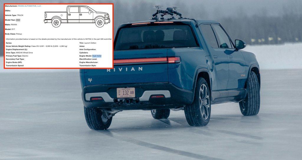 Декодер Rivian R1T VIN намекает на вариант с двумя двигателями среди моделей 2022 года