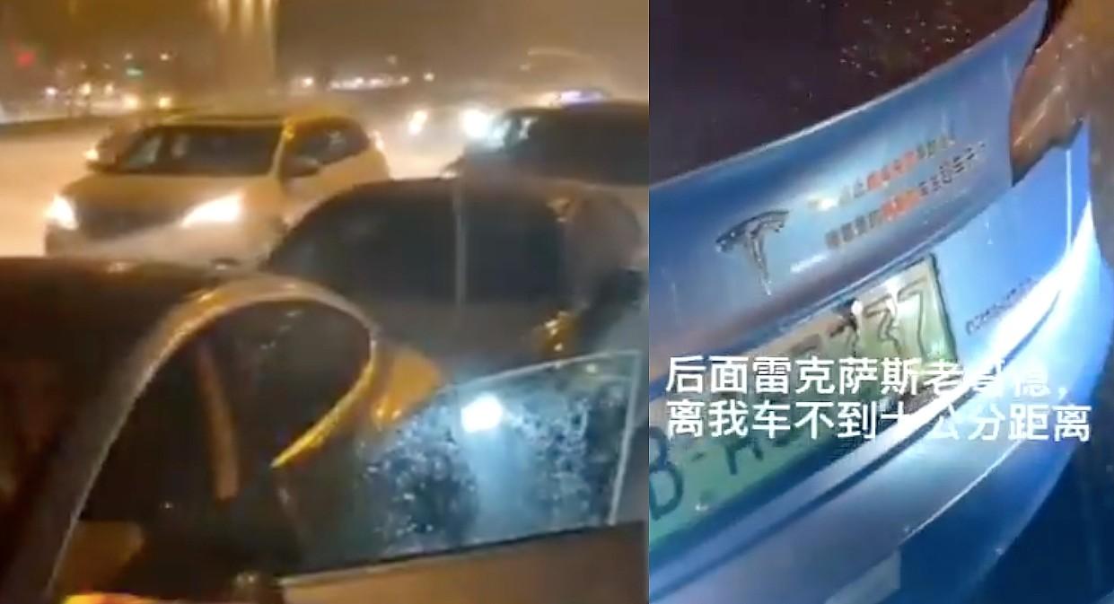 Tesla Model 3 снова опровергла слухи о китайском отказе тормозов из-за дождливого столкновения нескольких автомобилей