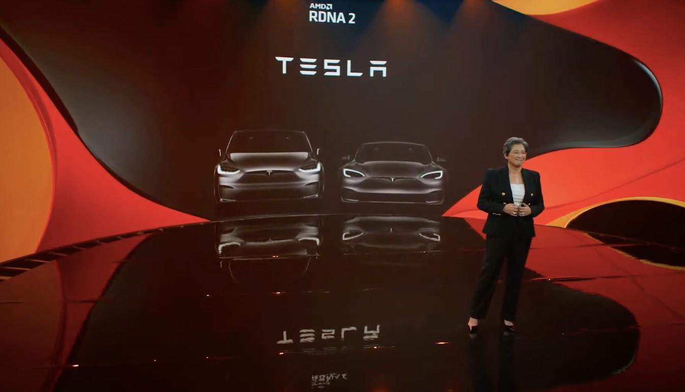 AMD подтверждает, что новые Tesla Model S и Model X будут иметь графические процессоры RDNA 2
