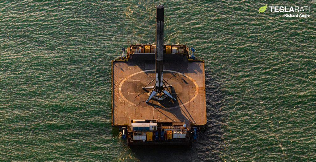 Корабль-дрон SpaceX отправляется на Багамы в Калифорнию