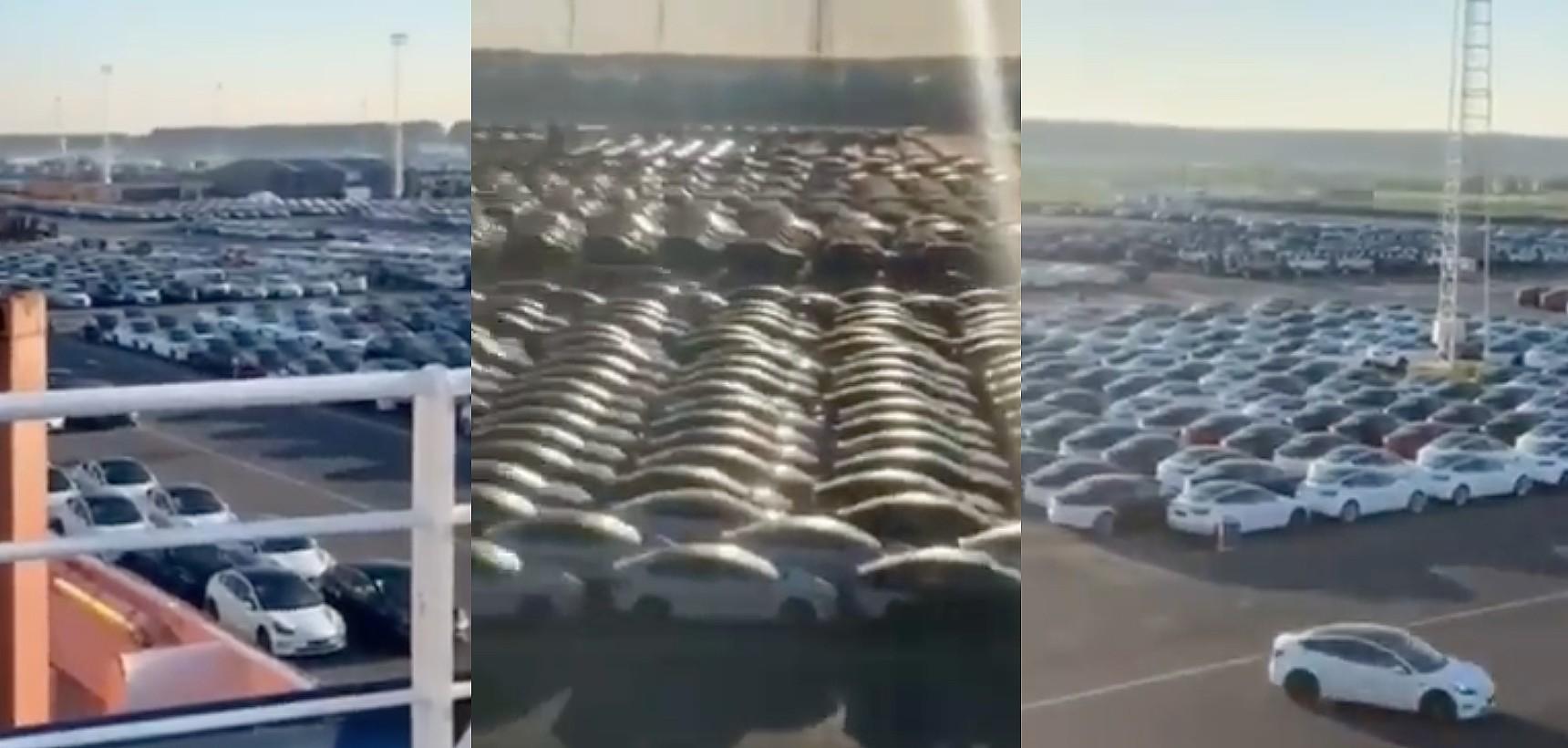 В порту Зебрюгге замечен огромный флот Tesla для очевидного рывка Европы в конце квартала
