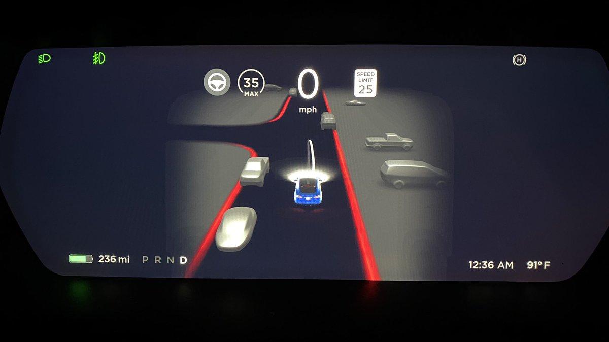 Первый взгляд на Tesla FSD Beta V9 с визуальными эффектами в духе автомобиля