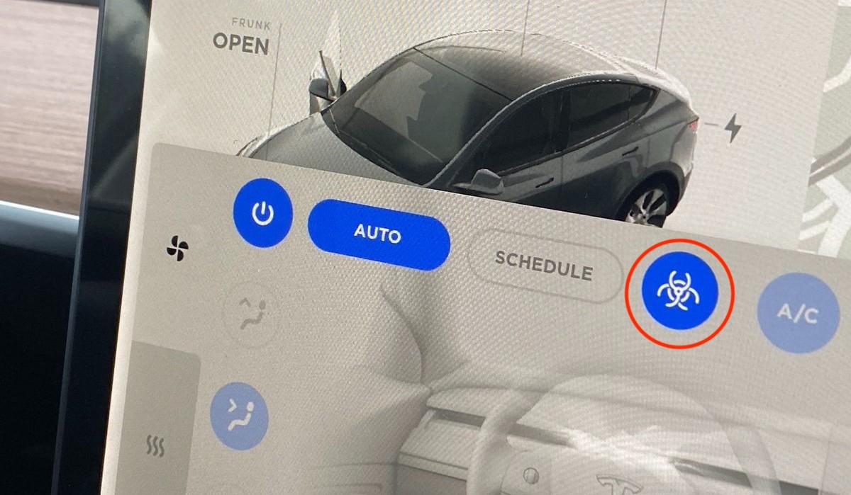 Модель Y производства Tesla в США получила режим защиты от биологического оружия с HEPA-фильтром больничного уровня