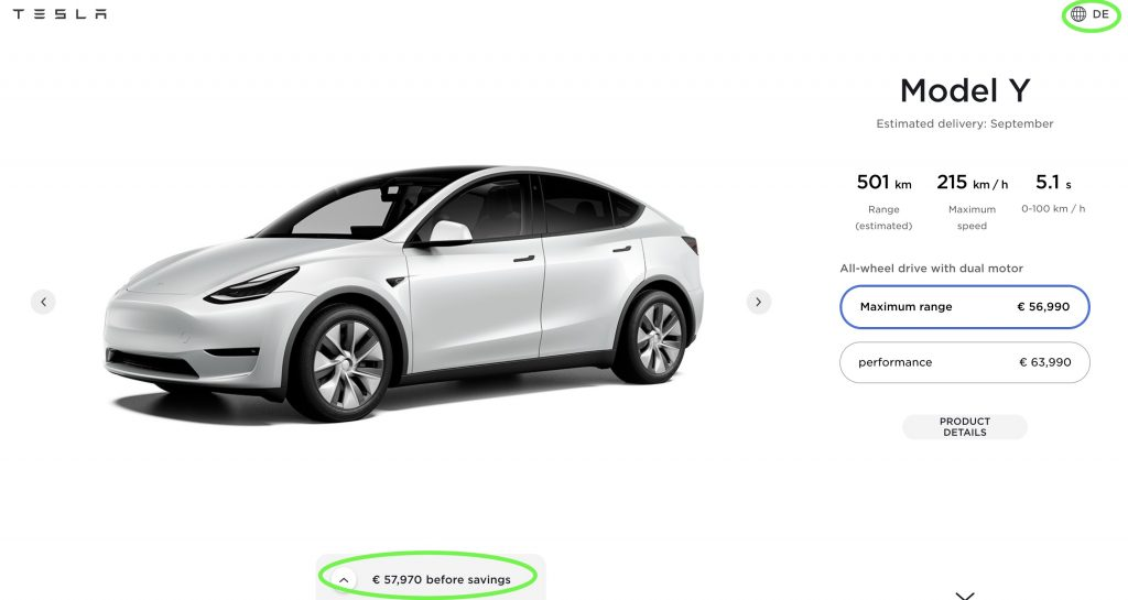 Заказы Tesla Model Y открываются в Европе с оценкой доставки в третьем квартале